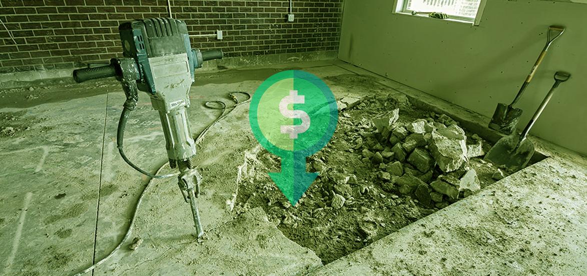 Drain leaks under slabs